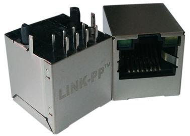 LPJD4012BENL , Vertical RJ45 Jack , 1CT:1CT, 8P8C 10/100Mbps, Shield LED G-Y