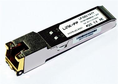 Rj45 Copper SFP 10/100/1000 BASE-T SGMII -40 ° C do + 85 ° C Temperatura przemysłowa 1,25 Gigabit Ethernet